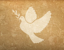 Grunge background with dove shape Royalty Free Stock Photography
