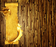 Grunge background with dragon and scroll. Of old parchment Stock Photo