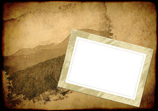 Grunge background with an empty old frame Royalty Free Stock Image