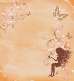 Grunge background with a fairy Stock Images