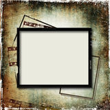 Grunge background with film frame Royalty Free Stock Images