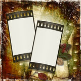 Grunge background with film frame Stock Images