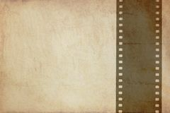 Grunge background with film strip Stock Image