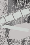 Grunge background with filmstrips. Illustration Stock Image