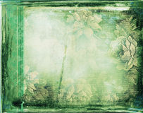 Grunge background with floral ornaments Stock Photo