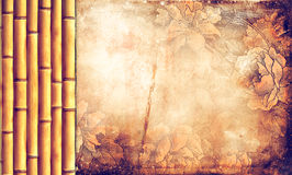 Grunge background with floral ornaments Stock Photos