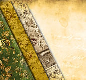 Grunge background with floral ornaments Royalty Free Stock Photography