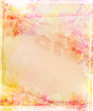Grunge background with floral ornaments Royalty Free Stock Images