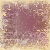 Grunge background with floral pattern Royalty Free Stock Images