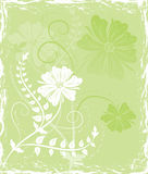 Grunge background flower, elements for design, vector Stock Images