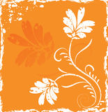 Grunge background flower, elements for design, vector Royalty Free Stock Photography