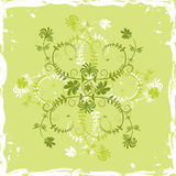 Grunge background flower, elements for design, vector. Illustration Royalty Free Stock Images