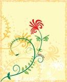 Grunge background flower, elements for design, vector. Illustration Stock Images