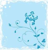 Grunge background flower, elements for design, vector. Illustration Royalty Free Stock Photo