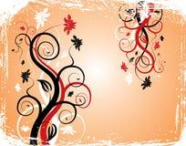 Grunge background flower, elements for design, vector stock photo