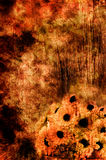 Grunge Background With Flowers. Grunge Style Background With Scratches and Flowers Royalty Free Stock Photos