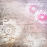 Grunge background with flowers Stock Photo
