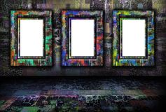 Grunge background with frames Royalty Free Stock Photography