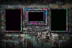 Grunge background with frames Royalty Free Stock Photo