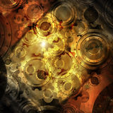 Grunge Background with Gears Royalty Free Stock Photography