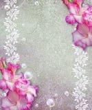 Grunge background with gladiolus Stock Image