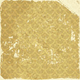 Grunge background with gold pattern Royalty Free Stock Photography