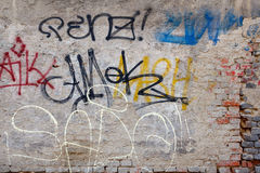 Grunge background with graffiti elements Stock Photography