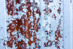 Grunge background in gray blue aluminum, texture and rust Stock Photos