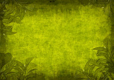 Grunge background with green leaves Royalty Free Stock Image