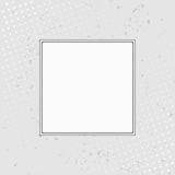 Grunge background with halftone white frame. Vector illustr Royalty Free Stock Photography