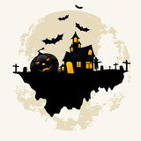 Grunge Background for Halloween Party Stock Images