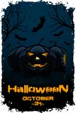 Grunge Background for Halloween Party Royalty Free Stock Photo