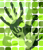 Grunge background with hand prints. eps10 Royalty Free Stock Photography