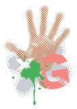 Grunge_background_handprint vector illustratie
