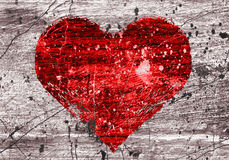 Grunge background with heart Royalty Free Stock Photography
