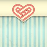 Grunge background with heart emblem  illustration Royalty Free Stock Photo