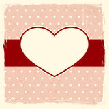Grunge background with heart frame Royalty Free Stock Photos