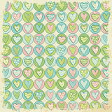 Grunge background with heart pattern Stock Images