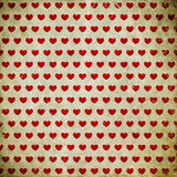 Grunge background with hearts Stock Image