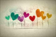 Grunge background hearts Royalty Free Stock Images