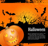 Grunge background for holiday Halowee with pumpkin Stock Photo