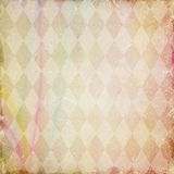 Grunge background with harlequin pattern Royalty Free Stock Images