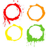 Grunge Background ink circles. Vector frames Royalty Free Stock Photo