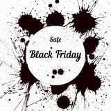 Grunge background with an inky dribble for Black Friday Royalty Free Stock Photography