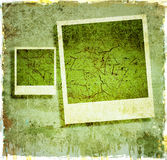 Grunge background with instant photos Royalty Free Stock Image