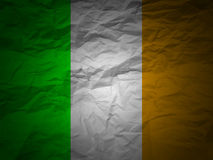 Grunge background Ireland flag Stock Images