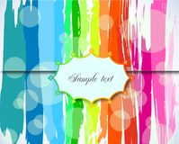 Grunge Background with Label. Vector Stock Photo
