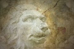 Grunge background with lion. Grunge background with old lion vector illustration