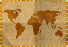 Grunge background - map of the world Royalty Free Stock Image