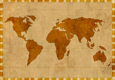 Grunge background - map of the world Royalty Free Stock Images